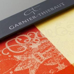 Garnier-Thiebaut Stoffmuster beschichtete Tischwäsche (Enduit)
