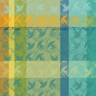 Mille Colibris Maldives Serviette, 4er Set