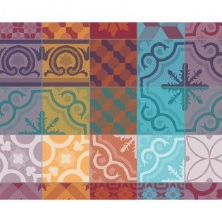 Mille Tiles Multicolore Tischset, 4er Set
