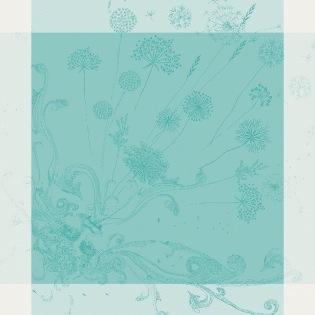 Souffle Turquoise Serviette, 4er Set