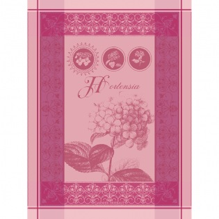 Hortensia Rose Geschirrtuch, 4er Set