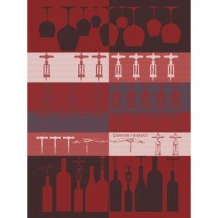 Sommelier Bordeaux Geschirrtuch, 4er Set