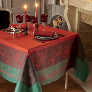 Christmas Forest Red Tischdecke