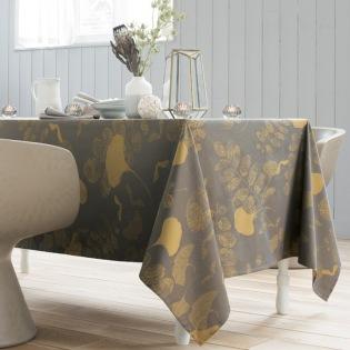 Mille Feuilles Bronze beschichtete Tischdecke