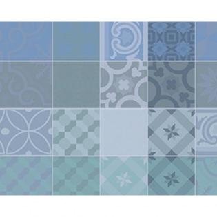 Mille Tiles Bleu Lagon beschichtetes Tischset