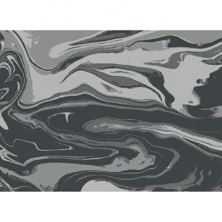 Mille Marble Black beschichtetes Tischset