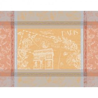 Tischset Carte Arc de Triomphe Abricot