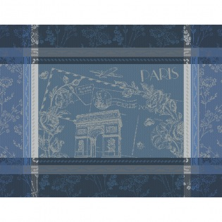 Tischset Carte Arc de Triomphe Bleu