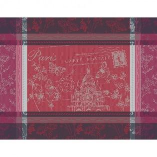 Tischset Carte Sacre Coeur Rouge