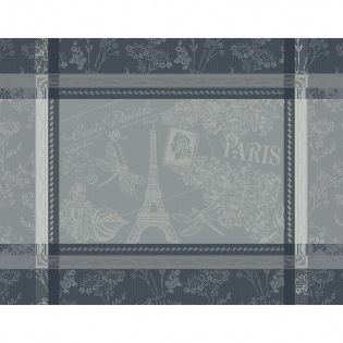 Tischset Carte Tour Eiffel Anthracite