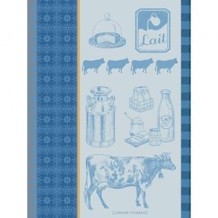 La Vache Et Le Lait Bleu Geschirrtuch