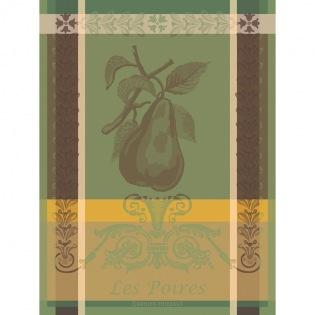 Poires Vert Geschirrtuch, 4er Set