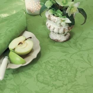 Mille Charmes Vert beschichtete Tischdecke