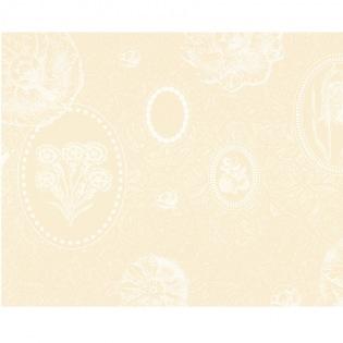 Mille Eclats Chocolat Blanc beschichtetes Tischset