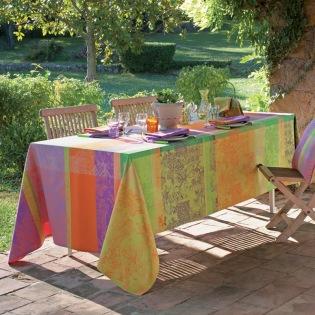 Mille Patios Provence beschichtete Tischdecke