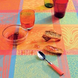 Mille Wax Créole beschichtete Tischdecke