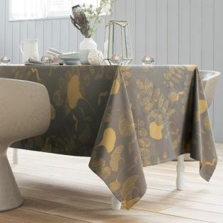 Mille Feuilles Bronze Tischdecke 180 x 250 cm