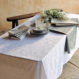 Mille Pensees Blanc Tischdecke 180 x 300 cm