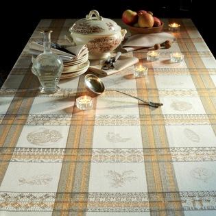 Mille Lumieres Boisè Tischdecke / Enduit 115 x 115 cm