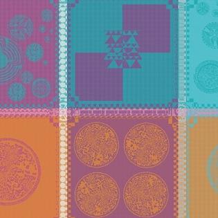 Mille Batik Vibrant Serviette, 4er Set