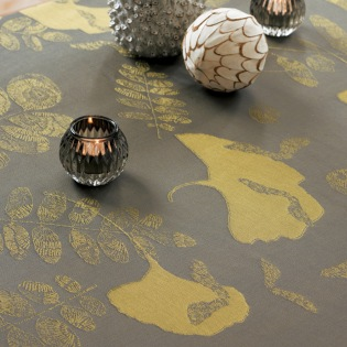 Mille Feuilles Bronze Tischdecke 89 x 89 cm