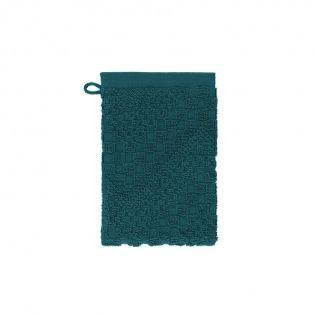 Bohème Bleu Pétrole Waschhandschuh